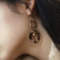 ring layered drop earring