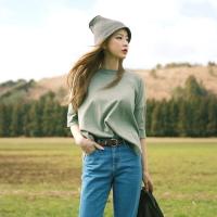 Drop shoulder unbal knit