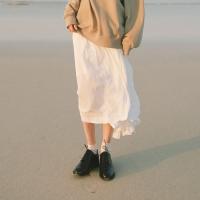Piano long pleats skirt