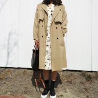 Oversize plain trench coat