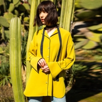 JANE PYJAMA LONG SHIRT atb119w(Yellow)