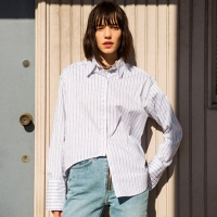 [임수정 착용]INES UNBALANCE STRIPE SHIRT atb117w(Red)