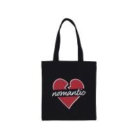 NOMANTIC HEART ECO BAG BLACK