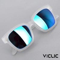 브이선 VCS5 브이클릭 명품 뿔테 미러 선글라스 VCS5-FOFO-WH-MIB /