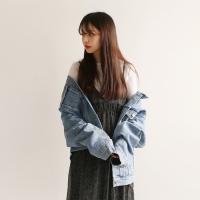Boxy denim basic jacket