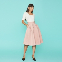 Philip Flare Skirt in Pink