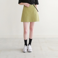 Spring color a-line skirt