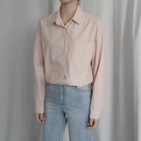 포켓 베이직 코튼 셔츠 (4-COLORS)