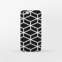 Black Modern Cube 아이폰 하드케이스
