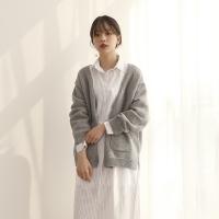 Two pocket Side slit wool cardigan