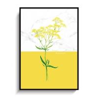 꽃일러스트 포스터 인테리어 액자 마타리꽃