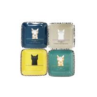 고양이 스퀘어 접시 (4type)