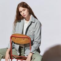 [유라고]스트라이프 포켓 재킷