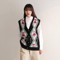 Vintage pattern knitt vest