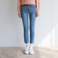 Slim cutting denim pants