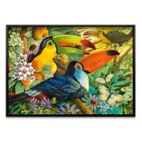 3000조각 미니퍼즐▶ 꽃의 숲에 사는 새 (LD300433)