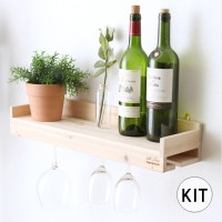 [033] 와인잔 걸이 선반 만들기 DIY