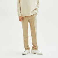 Solid Wide Trouser (Light Beige)