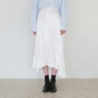 Satin feminine flare skirt