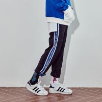 crump represent track pants (CP0011)-black-blue
