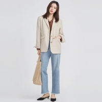 cozy simple wool jacket (2 colors)_(527738)