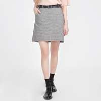 belt set check skirt_(527746)
