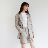 Point check double jacket