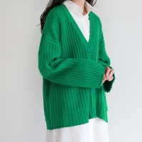 Wide golgi v-neck cardigan