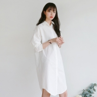 Pure cotton long shirt