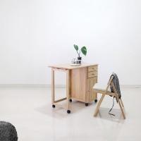 [스크래치] 원목 접이식 캐스터 테이블&의자 세트