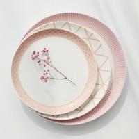[쓰임] 피오니 접시 3P 세트(핑크)