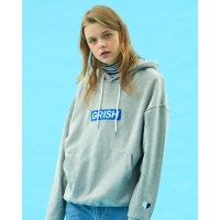 GRISH Club Hoodie-(GRAY/BLUE)