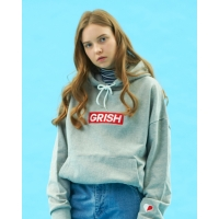 GRISH Club Hoodie-(GRAY/RED)
