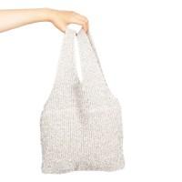 twinkle knit bag silver