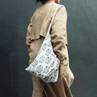 [duboo] Owl Black Cotton Bag