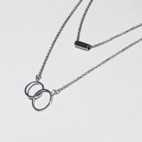 [RUSHOFF]Girlish Layered Necklace 2set 걸리쉬레이어드목걸이