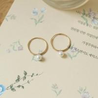 담수진주, simple ring 2way 이어링