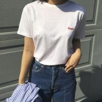 러버 라운드 티셔츠