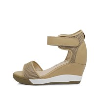 kami et muse Velcro strap wedge sandals_KM17s118