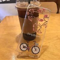 벚꽃 자전거 탄 풍경 젤리케이스 갤럭시S8외 다기종