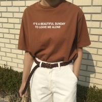 리브 라운드 티셔츠