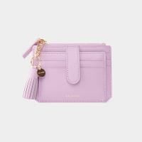 [태슬+스트랩증정]Dijon 301S Flap mini Card Wallet lilac blossom