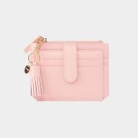 [태슬+스트랩증정]Dijon 301S Flap mini Card Wallet peach pink
