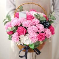 클래식 비누카네이션꽃바구니 (대) [돈바구니DIY]_(483795)
