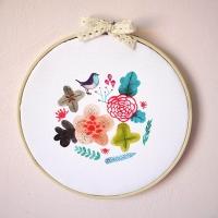 꽃과새-수틀액자