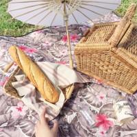 [방수피크닉매트] Romantic holiday - Brown (Large+부직포가방세트)