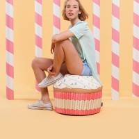 [라쏨] 핑크 컵케익 빈백 소파