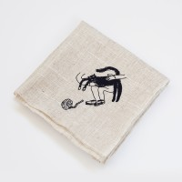 Linnen Handkerchief _ Cat