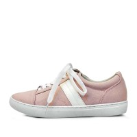 kami et muse Side white patch strap sneakers_KM17s152