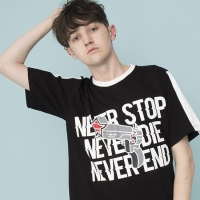 NEVER Graphic T-shirts (BLACK)